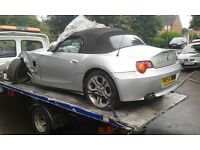2004 BMW Z4 e85 2.5 SE convertible titan silver manual BREAKING FOR SPARES