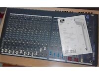 SOUNDCRAFT SPIRIT 4 -16 CHANNELS STUDIO AND LIVE BAND MIXER/USED AND IN MINT CONDITION AS NEW