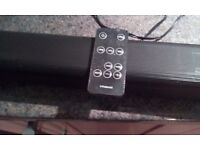 Remote controlled sound bar in excellent condition works great.no need for it due to new tv