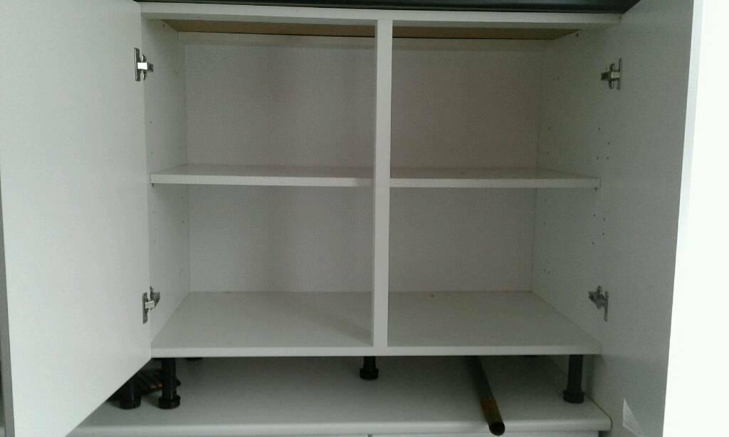 Kitchen Units Base 1000ml With 2 500ml Doors 2 Units Left
