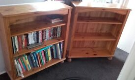 Solid pine bookcases