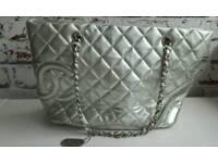 Chanel silver used handbag