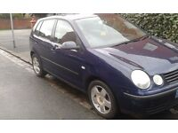 2002 ,Polo , 11 months mot , 1200cc , £499