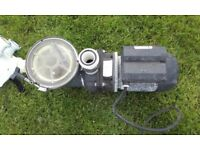 swimming pool pump, filter and valve
