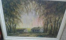 Signed and framed oil painting