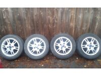 FORD KA ALLOY WHEELS x4 WITH TYRES