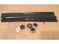 Fly Fishing travel rods + Reel/Spools
