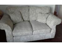 2 seater cream sofa/settee