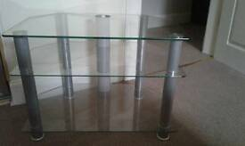 Glass tv DVD stand
