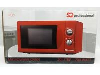 NEW IN BOX 20 LITRE RED MICROWAVE OVEN