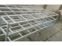 Steel shelving x3 - 2.300x900