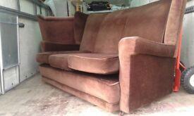 3 seater sofa old fashioned free free 07970804470