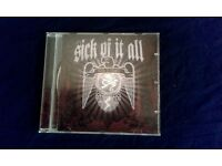 Sick Of It All ‎– Death To Tyrants, CD, VG, released on Century Media in 2006.