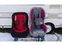Children's car seats.