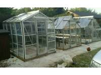 GREENHOUSES delivered and erected two you assorted sizes