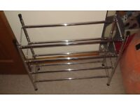 Argos Home 4 Shelf Ext Shoe Storage Rack - Chrome Plated - like new