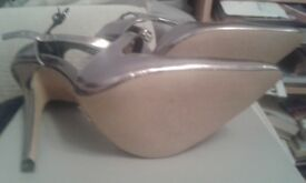 "Kurt Geiger High heeled shoes very elegant size 6 in Gunmetal. Never worn 5"" Heels"