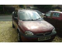 Vauxhall Corsa 1.4 R reg 58000 miles automatic