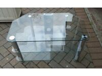 Glass TV Table/Stand - FREE - collect from Lymington