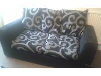 3 Seater Black and Grey Sofa. Good Condition. (Also Selling 2 Seater in Same Design)