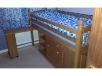 Pine Mid sleeper single bed