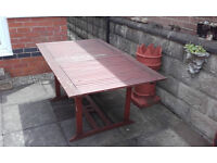 Large Wooden Outdoor Dining Table