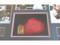 Sugar Ray Leonard Signed Encased Boxing Glove.