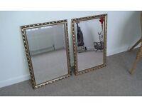 2 matching guilt edge mirrors 50cm x 73cm.