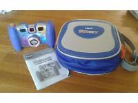 vtech kidizoom twist plus digital camera with matching camera case. excellent condition
