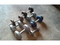 Selection of Dumbbells - His and Her Light and Heavy Weights (Get Fit Before Christmas)