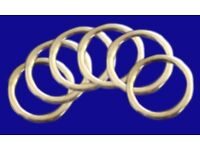 6 Brass Effect Curtain Rings fits 28 mm diameter pole