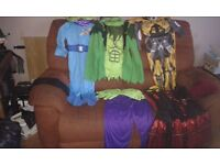 Selection of halloween costumes for sale might suit car booter