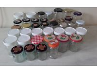 Glass jars, preserve assorted 40x