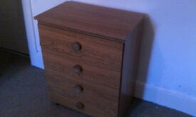 Small chest of four draws