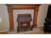 Fire Surround, Gas Fire and Marble Hearth