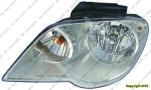 Head Light Passenger Side Halogen High Quality Chrysler Pacifica 2007-2008