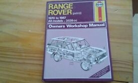 Range rover work shop manual