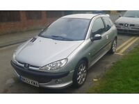 2002 Peugeot 206 1.4 Quiksilver 3dr AC silver BREAKING FOR SPARES