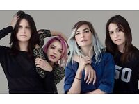 Warpaint Tickets for tonight - 27th Oct x 4