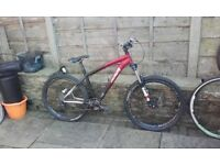 S&R Specialized mountain bike - stump jumper? Hope pro II 2 evo hub hydraulic disc brakes