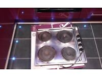 Electric 4ring hob,stainless steel,good working order, £15 ono,pos local delivery