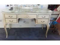 Glass Topped Dressing Table with 3 way mirror