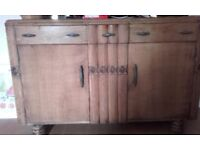 Wooden sideboard/ table/4chairs