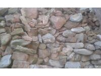 Reclaimed Stone. Lime stone and sandstone from building in Holbeton