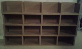DVD & CD Media Storage Shelves - Oak Effect X 4