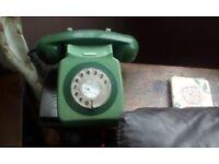 Retro telephone green working order
