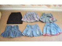 bundle of 6 girl skirts size 4-5