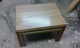 Gordon Russell retro coffee tables, nest of 2 tables, mid-century, 1950's, occasional tables