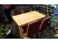 Kitchen Table & 4 High backed chair's