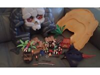 Playmobil Pirate Skull Island Carry Case with extras